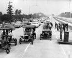 Vintage cars first vehicles to ride freeway extension