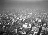 110 Harbor Freeway and Downtown Los Angeles, looking north