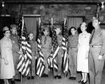 Scout troop accepts flags