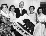 GOP women receive state flag
