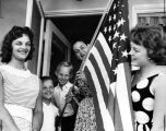 Family given flag by Encino GOP women