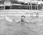 Mayor Yorty in the pool