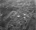 Aerial view of Vail Field and Central Manufacturing District, looking south