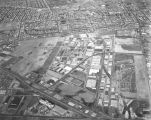 Aerial view of Vail Field and Central Manufacturing District, looking north
