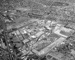 Aerial view of Vail Field and Central Manufacturing District, looking northwest