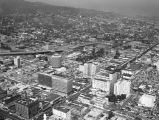 Hollywood Boulevard, Vine Street and the 101 Freeway, looking northeast