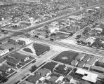 Garfield Avenue and Olympic Boulevard, East Los Angeles, looking east
