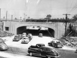 Traffic rolls through underpass at Lankershim Boulevard