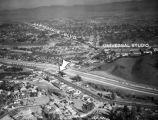 Aerial view of Hollywood Freeway extension at Lankershim