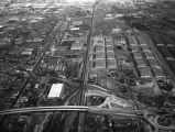 Aerial view of Central Manufacturing District, looking east