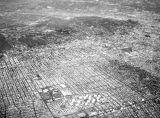 Aerial view of Los Angeles and surrounding vicinities, looking northeast