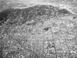 Aerial view of Los Angeles and surrounding vicinity, looking north
