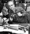 Dealer Joe Bickston displays revolver