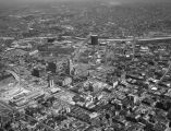 Aerial view of Downtown Los Angeles, looking northeast