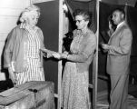 Early voters cast ballots