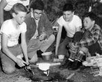 Scouts cook up breakfast