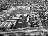 City yards, Huntington Park, looking west