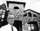 Theobald stands in front of old Tujunga City Hall--what's its future?