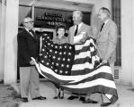 Encino Center presented flag