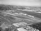Hughes Aircraft and Fullerton Airport, looking northwest
