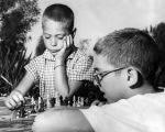 Juvenile wizards compete at chess