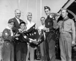 Scouts raise Old Glory skyward
