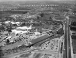 Disneyland Park, Harbor Blvd., Santa Ana Fwy, looking north