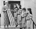 Girl Scouts receive new flag