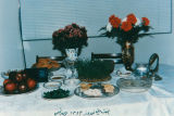 Iranian family New Year's table setting