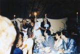 Arab American wedding party
