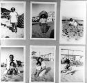 Photos of family at beach
