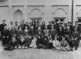 Armenian bishop with group at school