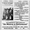 Advertisement for Mexican concert