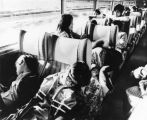 Chinese American students on train