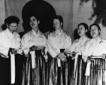 Women's singing group at Delano Young Korean Academy
