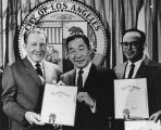 Philip Ahn and Los Angeles Mayor, Sam Yorty