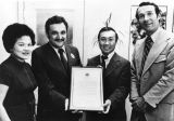 Chinese American receiving award