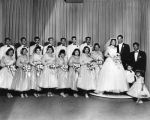 Mr. and Mrs. Henry Sanchez and wedding party