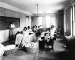 Sherman Indian High School sewing class
