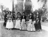 Navajo Indian women students at Sherman Institute