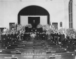 Funeral service at the Los Angeles Union Church