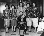 Chinese American sisters and grandmother