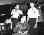 Barbara Graham and two women officers