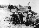 Sherman Institute students with sheep