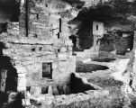 Cliff-dwelling ruins at Mesa Verde National Park