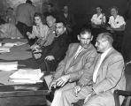 Monohan murder trial, courtroom scene