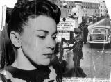 Barbara Graham and State prison, a collage