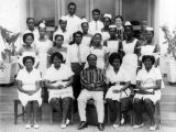 Yiadom and his nursing staff, Ghana