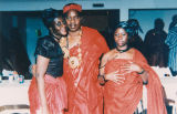 Chief Nana Kofi Anin, his wife and sister-in-law