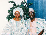 Parents of the bride in traditional Nigerian dress